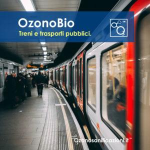 Sanificazione disinfezione treni tram trasporti pubblici