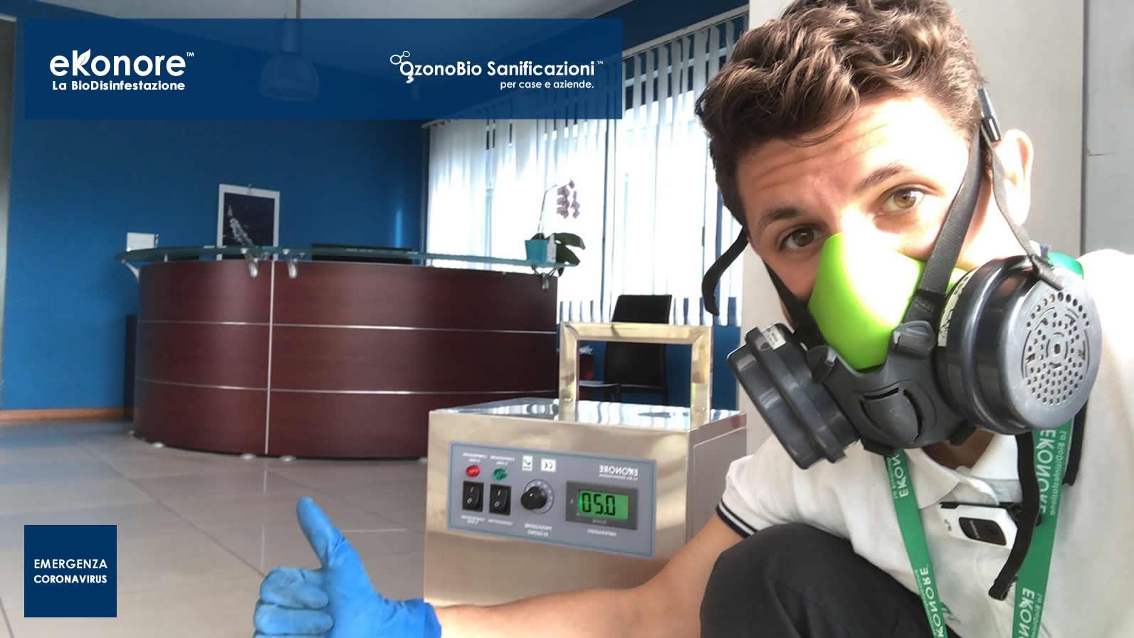 Sanificazione uffici e strutture da coronavirus