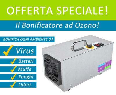 Sanificatore bonificatore ad ozono per disinfettare