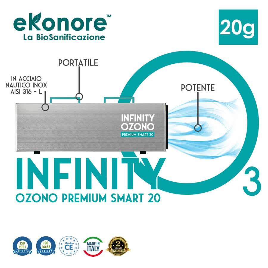 Generatore di ozono portatile Infinity Ozono Premium 20