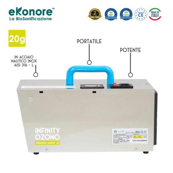 Macchina Ozono Professionale 20 g per sanificare ambienti