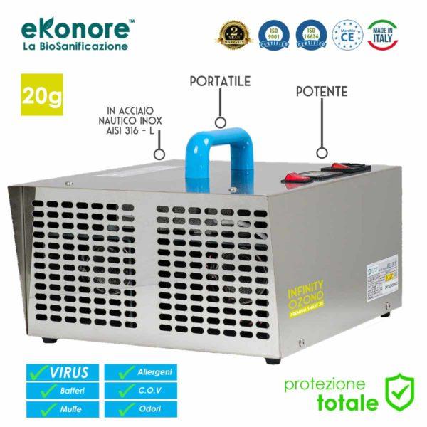 Macchina Generatore Ozono Fabbricato in Italia CE Sanificazione Certificata