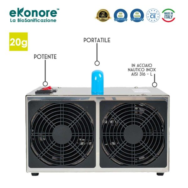 Generatore Ozono Italiano Certificato per la Sanificazione da Covid-19