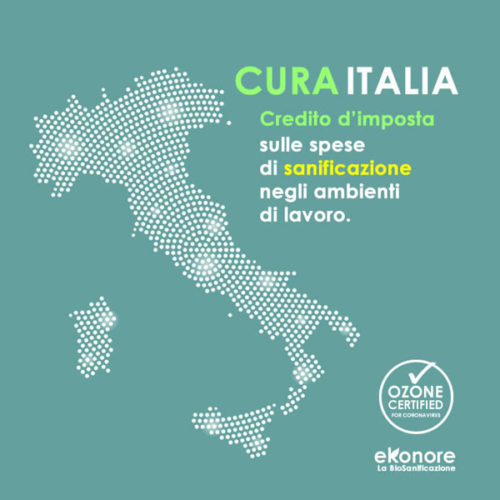 Cura italia credito d'imposta destrazione sanificazione