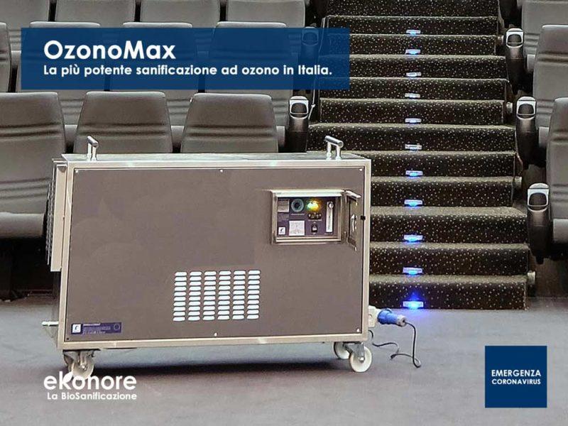 Sanificazione ad ozono più potente contro coronavirus