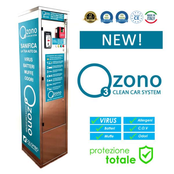Sanificazione ozono disinfezione auto e veicoli