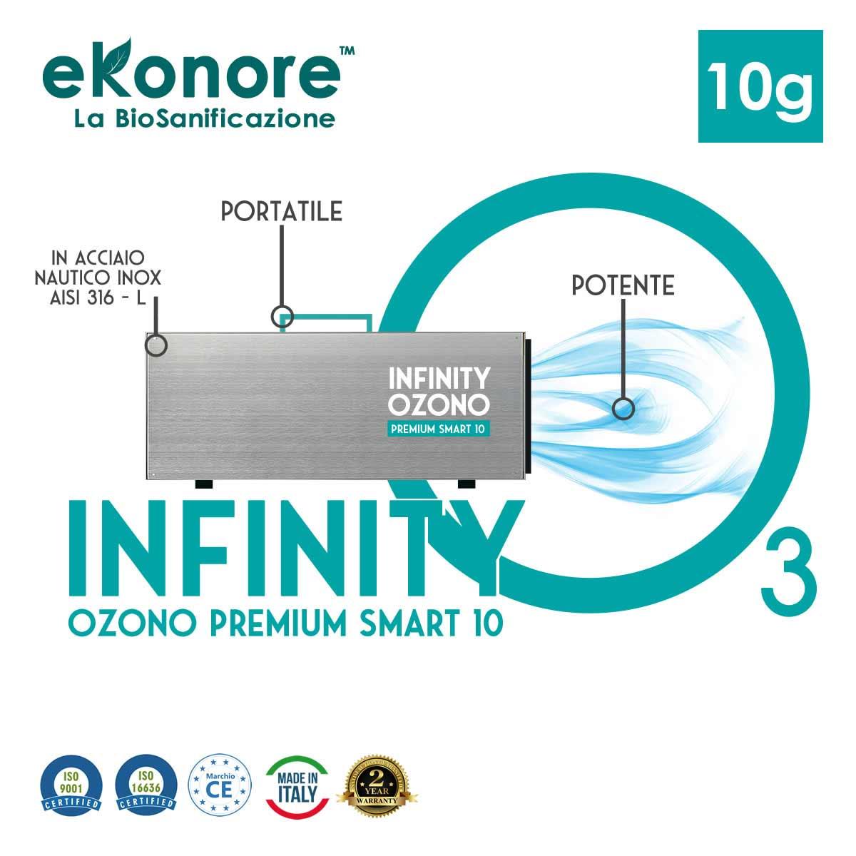 Generatore di ozono portatile Infinity Ozono Premium 10