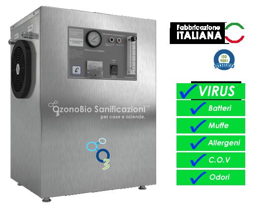 Sanificazione ad ozono con generatori professionali